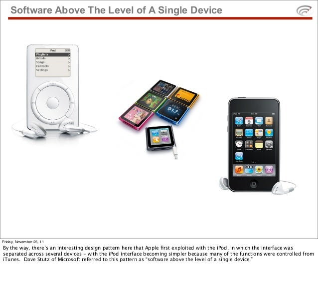 Software Above The Level of A Single DeviceFriday, November 25, 11By the way, there's an interesting design pattern here t...