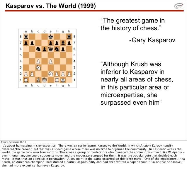 "Kasparov vs. The World (1999)                                                                   ""The greatest game in     ..."