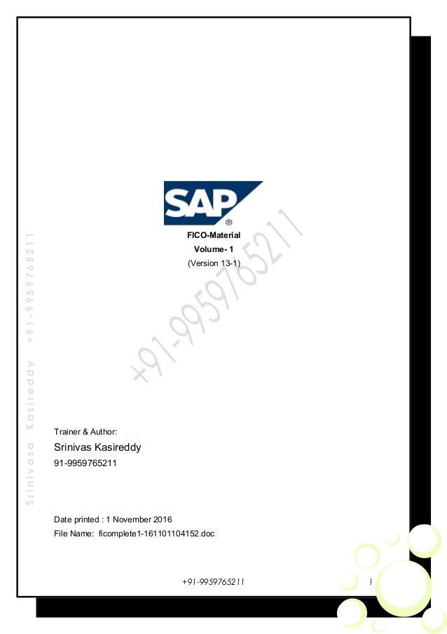 sap fi configuration guide and enduser manual rh slideshare net SAP Online Training SAP Training PDF