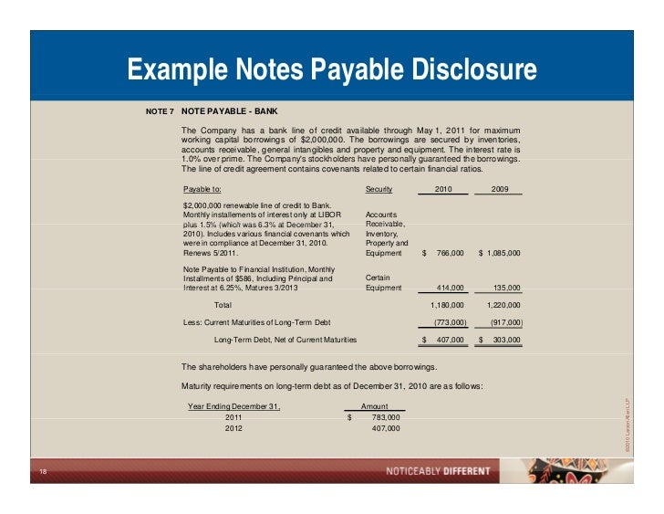 FICPA What Sureties Want To See In Financial Statements – Note Payables
