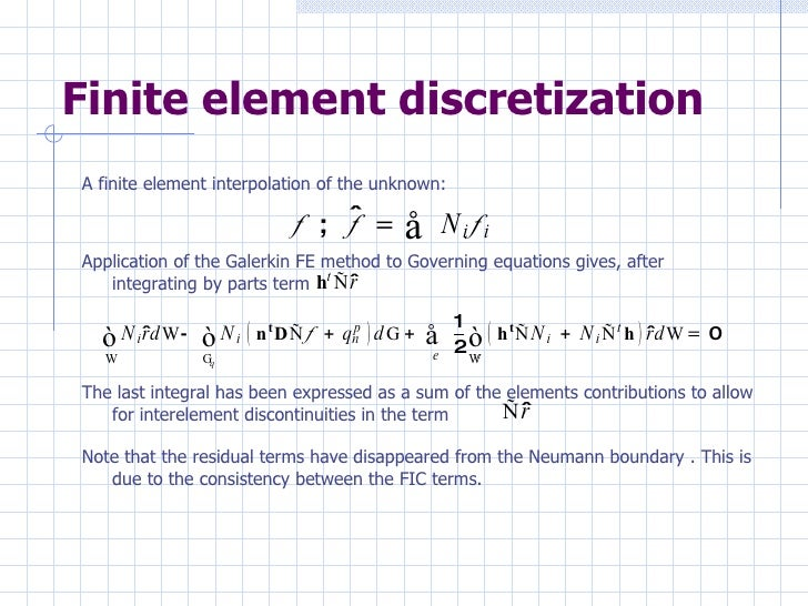FINITE ELEMENT FORMULATION FOR CONVECTIVE-DIFFUSIVE PROBLEMS