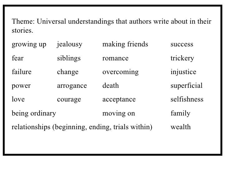 Teaching for Understanding in FictionUniversal Themes In Literature