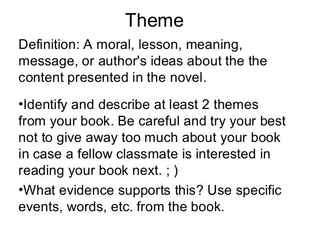 fiction book project presentation template