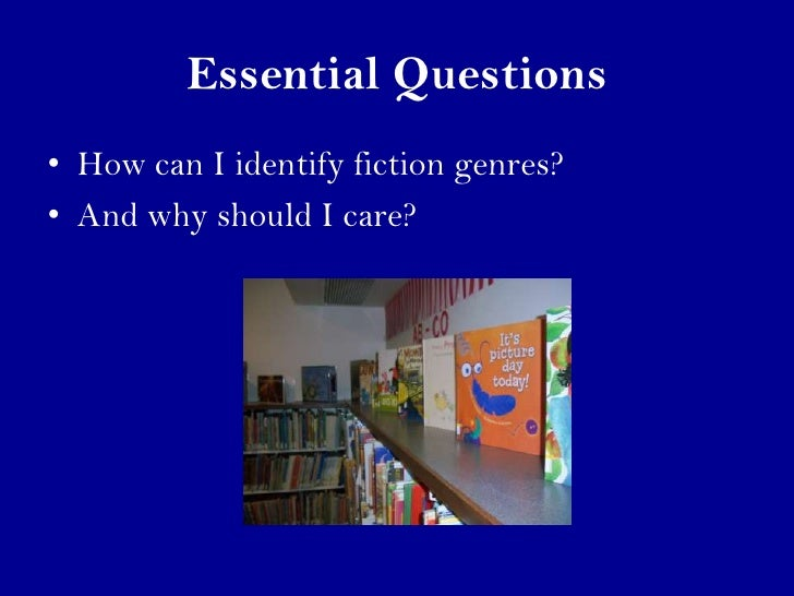fiction genres This introduction to fiction genres helps young readers to understand the characteristics of historical fiction, realistic fiction, fantasy, science fiction, m.