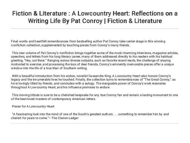 Fiction & Literature : A Lowcountry Heart: Reflections on a