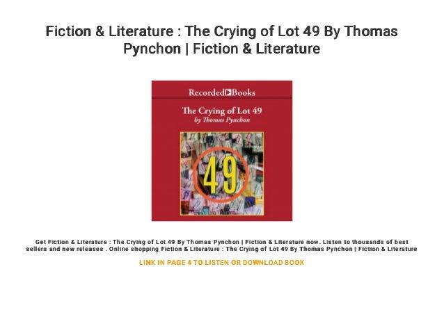 Thomas Pynchon The Crying Of Lot 49 Epub