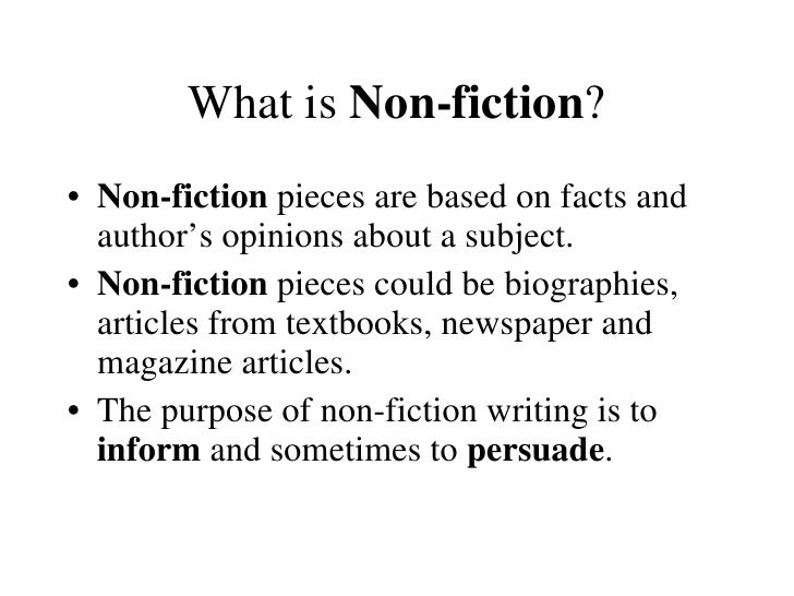 Fiction Or Nonfiction And Point Of View