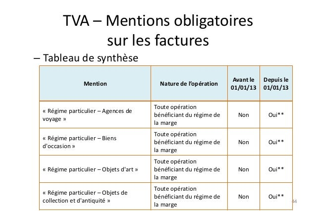 exemple facture franchise tva
