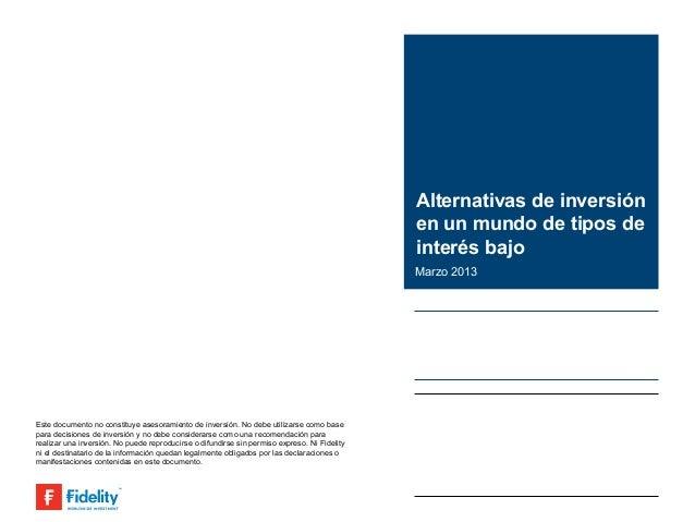 Alternativas de inversión                                                                                              en ...
