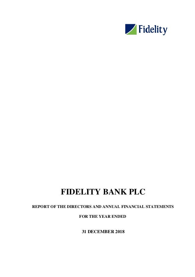 Fidelity Bank annual report 2018