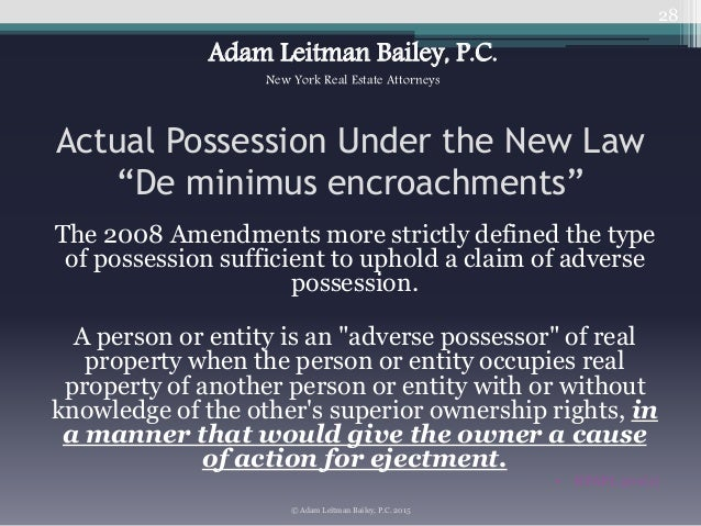 Analyzing Adverse Possession Laws and the Marketable Record