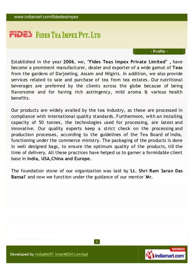 Fides Tea Impex Private Limited, Delhi, ,  Teas Slide 2