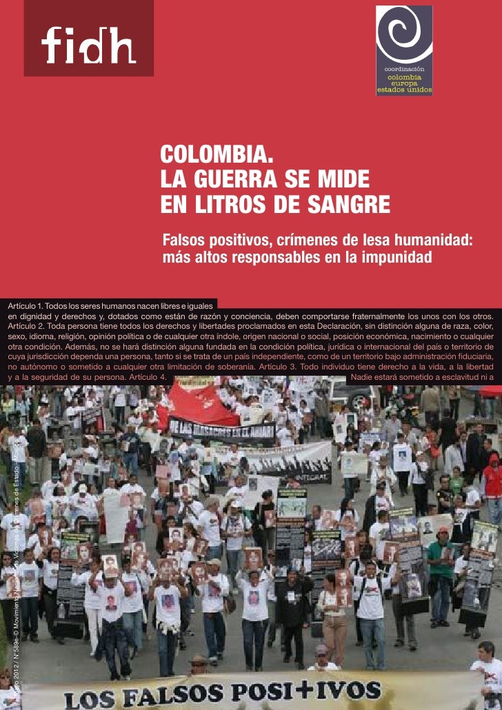 Colombia.                                                                                       La Guerra se mide         ...