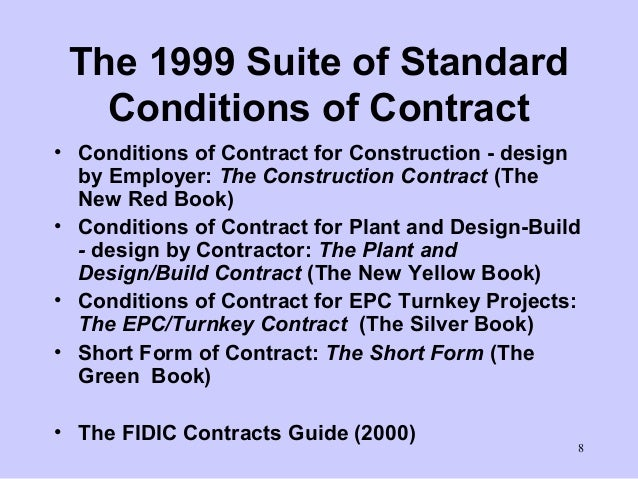 An Overview of the FIDIC FORMS OF CONTRACT and Contracts Committe…