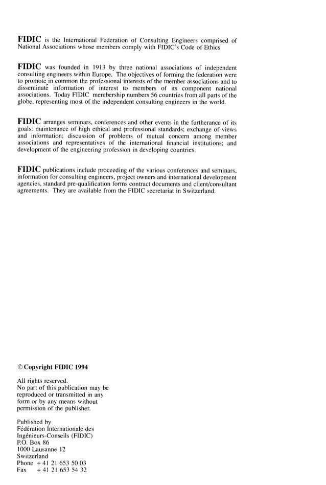 Fidic conditions of subcontract agreement platinumwayz