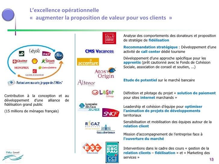 Les services additionnels à proposer, …</li></ul>L'industrialisation des actions marketing<br />Les mesures, les reporting...