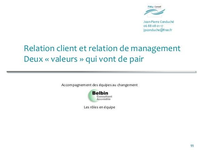Jean-Pierre Conduché06 88 08 01 17jpconduche@free.fr11Relation client et relation de managementDeux « valeurs » qui vont d...