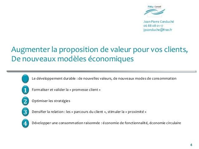 Jean-Pierre Conduché06 88 08 01 17jpconduche@free.fr4Augmenter la proposition de valeur pour vos clients,De nouveaux modèl...
