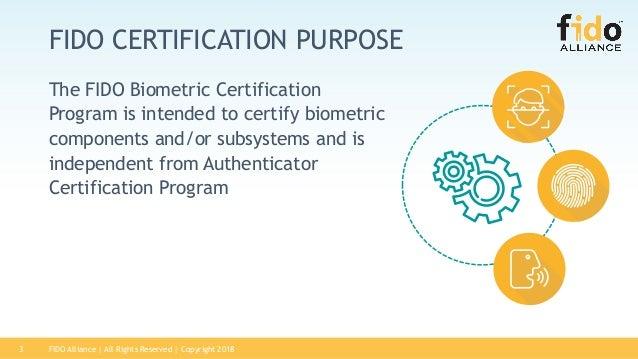 FIDO Biometric Certification Program Slide 3