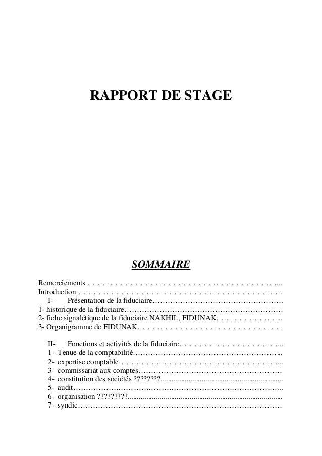 Stage cabinet expertise comptable - Rapport de stage dans un cabinet comptable ...