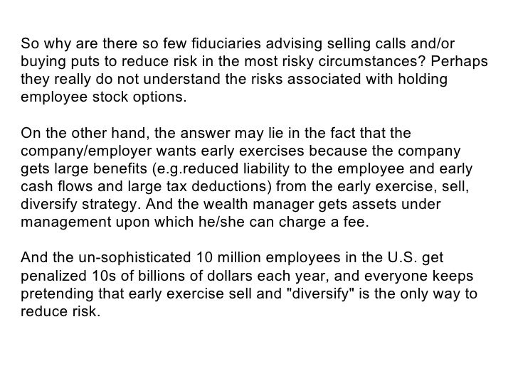 Us taxation of employee stock options