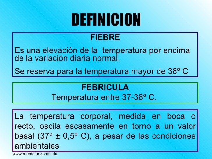 febricula definicion