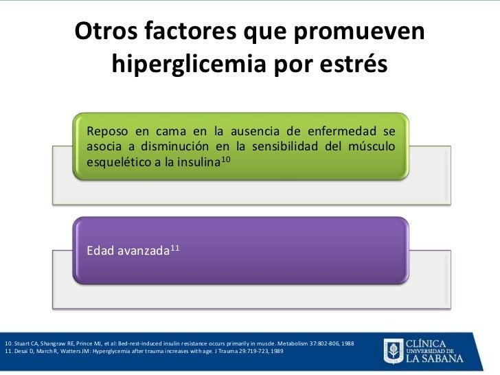 Fiebre, hiperglicemia e infeccion