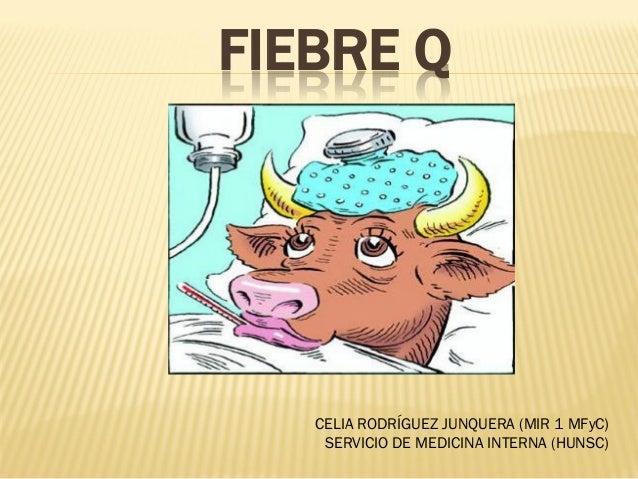 FIEBRE Q   CELIA RODRÍGUEZ JUNQUERA (MIR 1 MFyC)    SERVICIO DE MEDICINA INTERNA (HUNSC)
