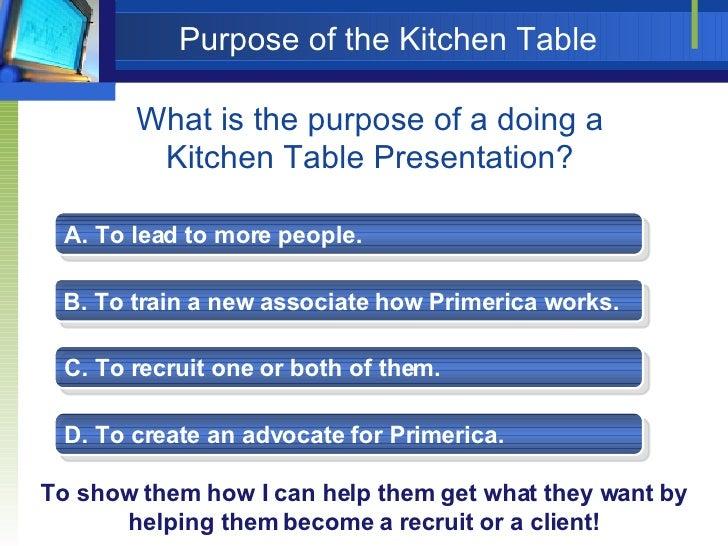 Primerica Kitchen Table Presentation Field training kitchen table presentation 23 workwithnaturefo