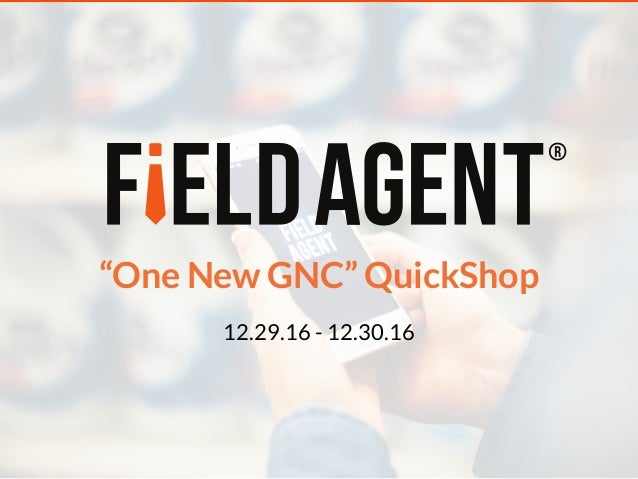 """One New GNC"" QuickShop 12.29.16 - 12.30.16"