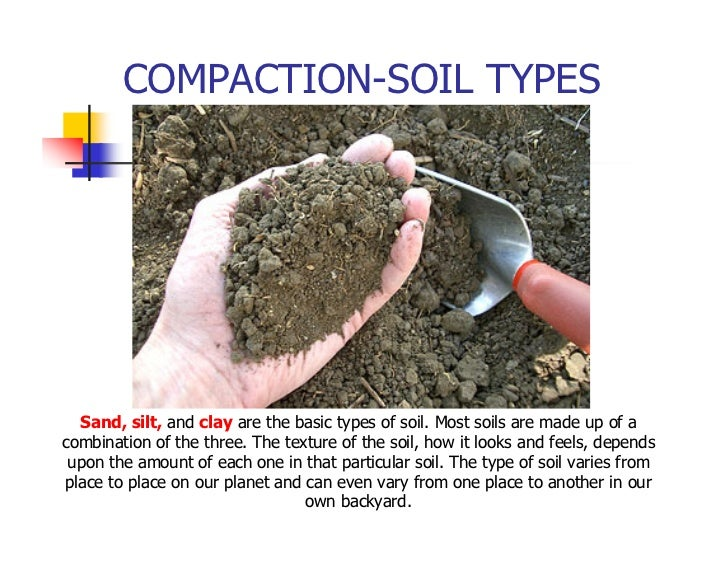 Field compaction for Soil characteristics definition