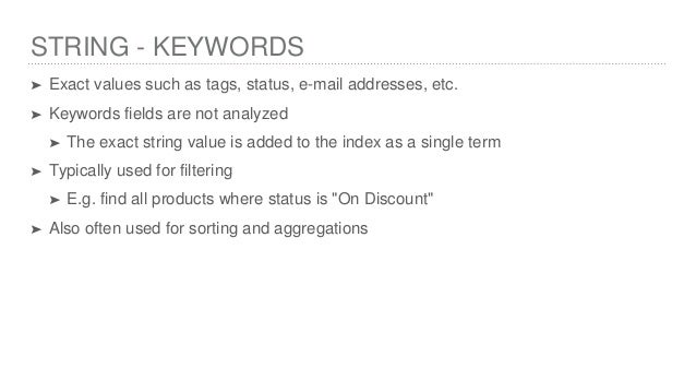 Elasticsearch Field Data Types