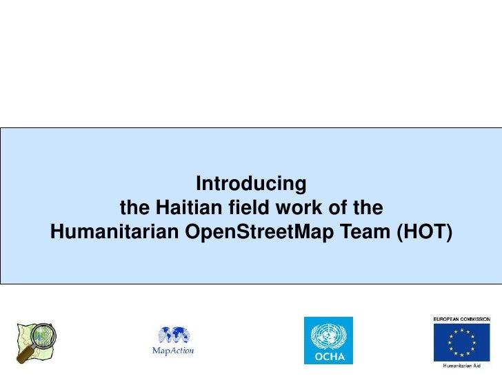 Open Street Map Wiki Project Haiti