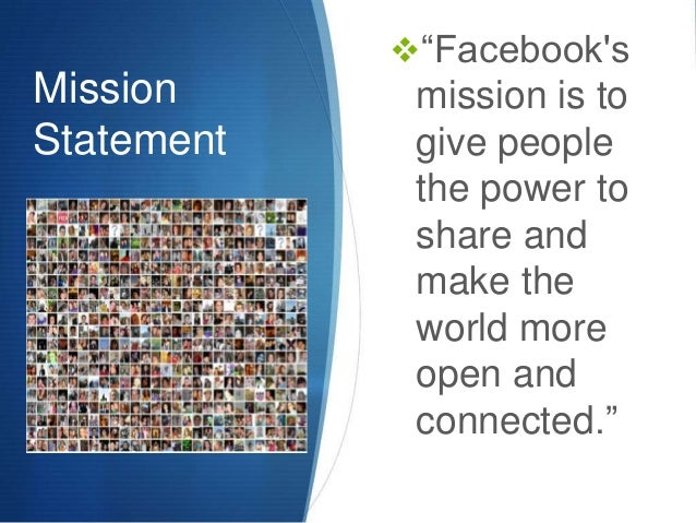 Field production facebook presentation for Adobe mission statement