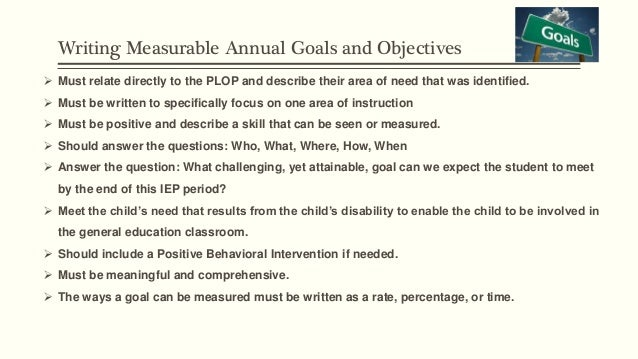 IEP Goals & Objectives: How to Write Goals and Objectives