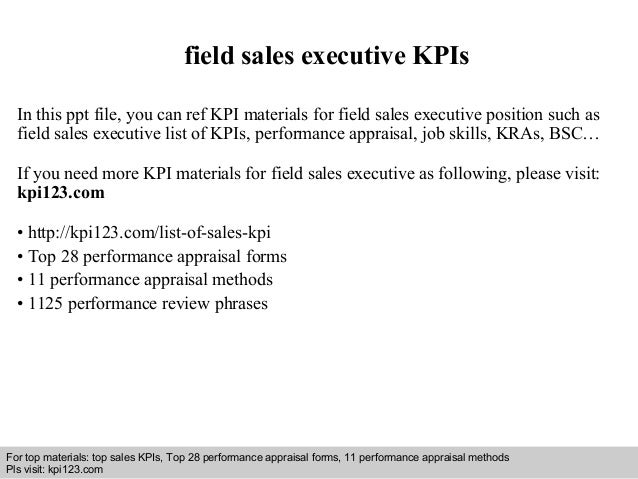 Field Sales Executive Kpis