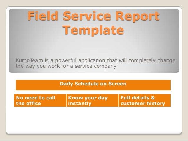 field service report template