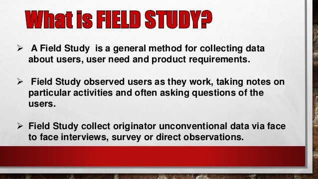 what is field of study