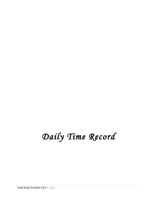Daily Time Record Field Study Portfolio 18 | P a g e