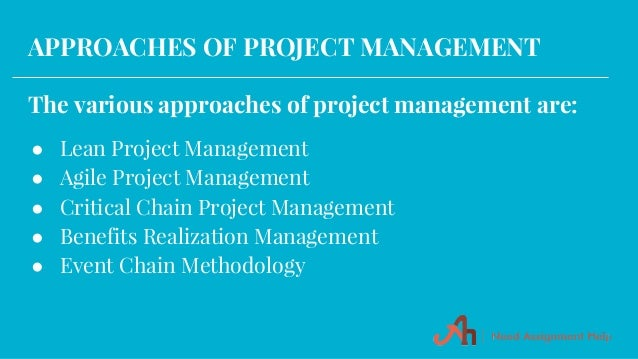 project management assignment 2 Project management 2 introduction the successful completion of a project depends upon the knowledge and skills possessed by the project manager in handling the project.
