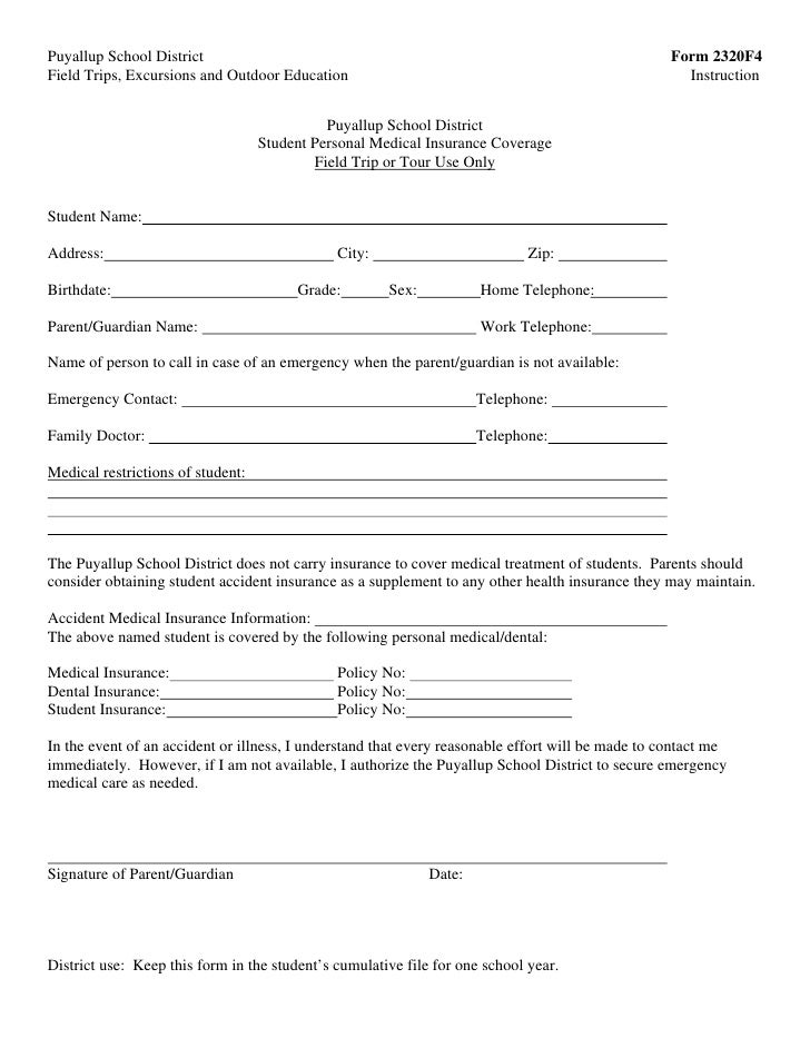 Medical Waiver Form. Student Medical Release Form Example 10+ ...