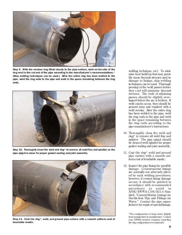 Field Welding And Cutting Ductile Iron Pipe