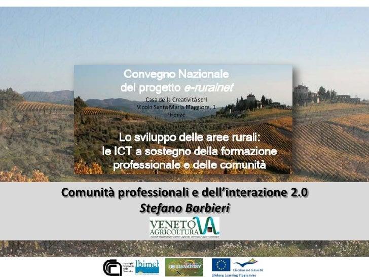 Comunità professionali e dell'interazione 2.0 per lo sviluppo rurale