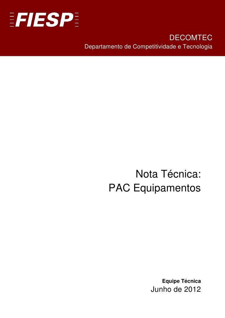 DECOMTEC                    5.5.1.1.1.1.1.1Departamento de Competitividade e Tecnologia            Nota Técnica:        PA...