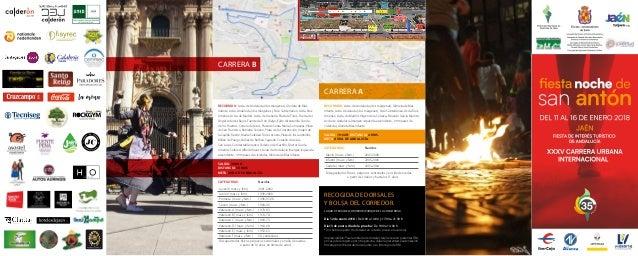 RECOGIDA DE DORSALES Y BOLSA DEL CORREDOR. LUGAR: II FERIA DEL CORREDOR (PARQUE DE LA CONCORDIA) Día 12 de enero 2018 / De...