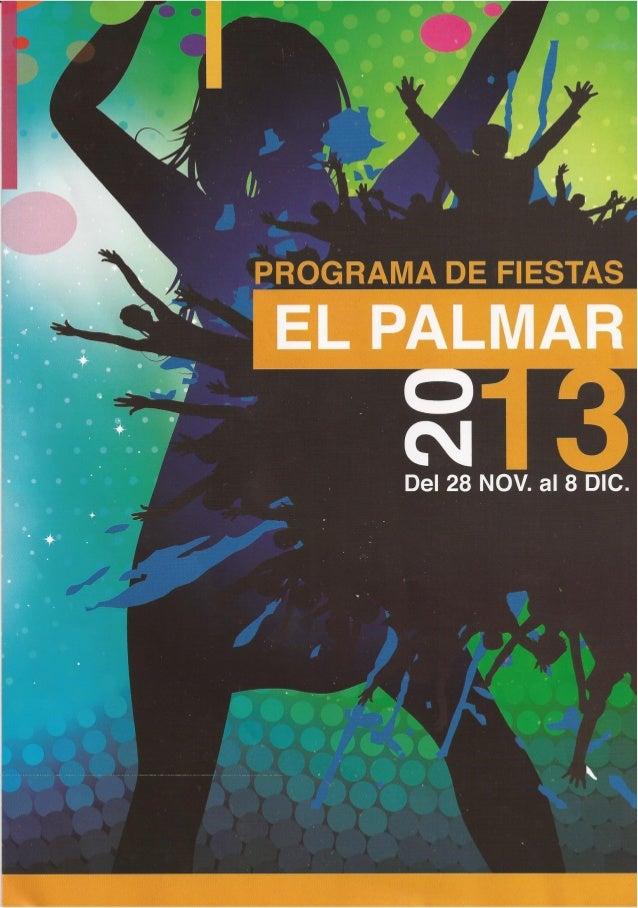 Programa Fiestas El palmar 2013