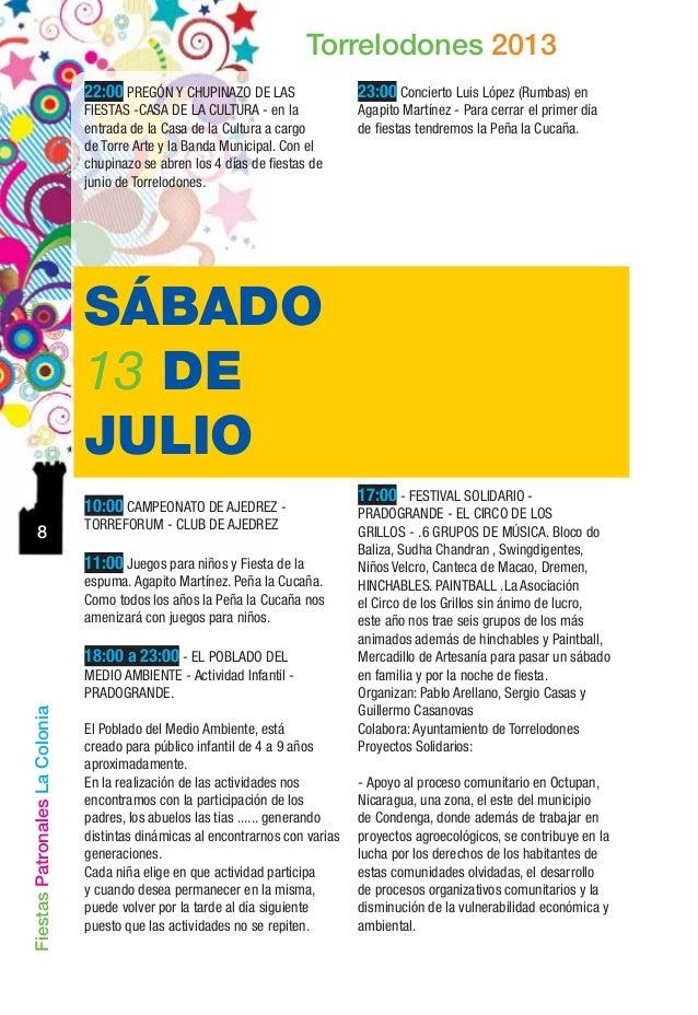 Fiestas torrelodones 2013 - Trabajo en torrelodones ...