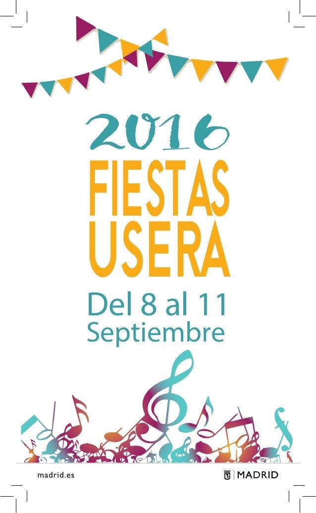 1 2016 USERA FIESTAS Del 8 al 11 Septiembre