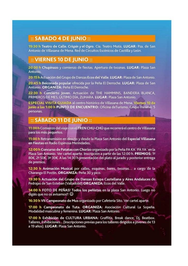 Fiestas San Antonio y Santa Filomena. Programa