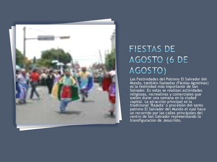 Fiestas y tradiciones de el salvador for Actividades que se realizan en una oficina wikipedia